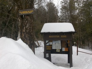The Upperworks Trailhead Parking Area