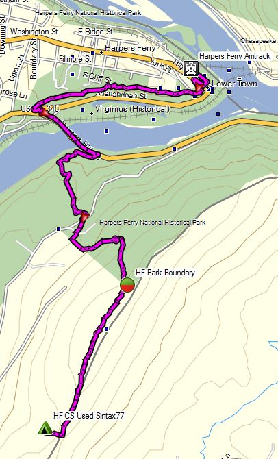 Harpers Ferry Winter Route Overview Sintax77